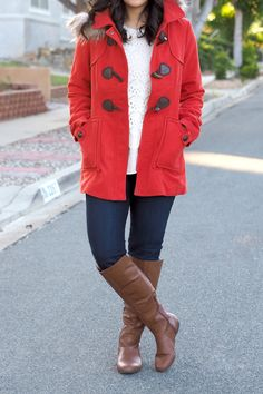 red toggle coat <3