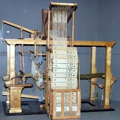 The Jacquard loom was invented by Joseph Marie Jacquard in Lyon in 1801 to weave textiles, mainly silk.