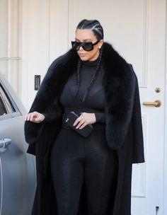 Kim Kardashian Photos - Kim Kardashian Wears All Black - Zimbio
