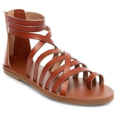 Women's Jessie Gladiator Sandals Mossimo Supply Co. - Cognac (Red) 8.5