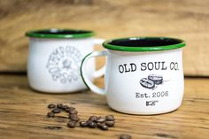 Traditionally produced enamelware in modern designs. Leading custom enamel mug worldwide supplier. Branded or original enamel kitchenware for your choice. Kitchenware, Tableware, Book Markers, Coffee Crafts, Old Soul, Coffee Recipes, Mug Shots, Mug Cup, Washing Clothes