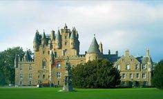 Located near the village of Glamis, in Angus, Glamis castle is one of the finest castles in Europe and appears on the back of ten pound notes issued by the Royal Bank of Scotland. It is mentioned as the castle  of Macbeth in William Shakespeare's play, although King Macbeth (who died in 1057) had no connection with a castle built in 1372.
