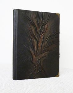 Leather Journal A5 Black Diary Writing Journal Tree by AnnaKisArt