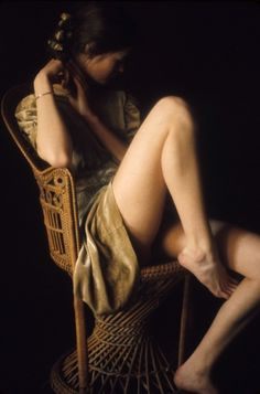 thequietfront:    David Hamilton  (reposted from The Quiet Front). I'm still trying to figure out the name of this kind of chair so I can order it online