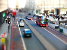 Tilt-shift photography is a creative and unique type of photography in which the camera is manipulated so that a life-sized location or subject looks like a miniature-scale model.