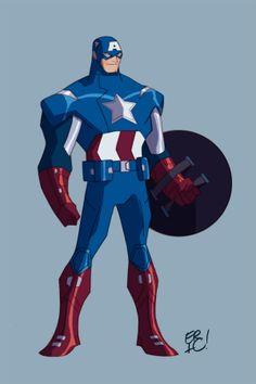Captain America Animated by *EricGuzman