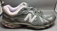 New Balance 573 6.5 Womens Trail Running Shoes N-Fuse All Terrain Lavender Gray