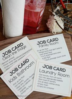 Printable job cards as a consequence for behavior (a way to discipline teens) thirtyhandmadeday. Kids And Parenting, Parenting Hacks, Parenting Classes, Peaceful Parenting, Gentle Parenting, Parenting Quotes, Chore Chart Kids, Chore Charts For Older Kids, Chores Chart For Teens