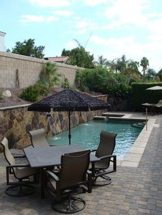 Small backyard pool - highly unlikely direction, but, something to imagine.