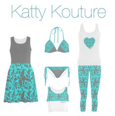 """Katty Kouture - Teal"" by loretta-goodin-kendall on Polyvore"