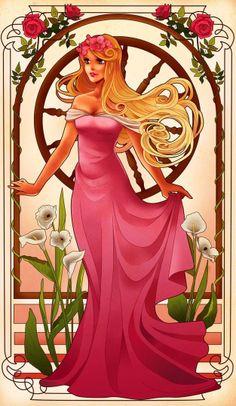 Эти Муха-Inspired Дисней Принцессы ошеломляющие
