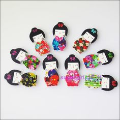 20Pcs Mixed Japan Doll Pattern Decorative Wooden Buttons 14.5x30mm   Crafts, Beads & Jewelry Making, Jewelry Findings   eBay!