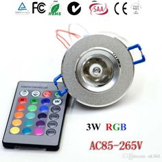 3W 85-265V RGB Ceiling Downlight Ceiling Lamp Wall Lights Recessed Lamp Spotlight + Remote Control RGB LED Spotlight Decor for KTV DJ Party Online with $6.2/Piece on Ok360's Store   DHgate.com