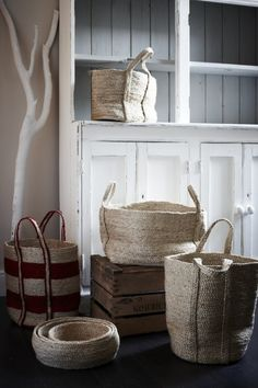 Great baskets & bags for storage or styling