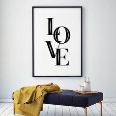 Amour Mur Art Scandinave Affiche Typographie Art Amour Noir et Blanc Moderne Inspiré Imprimer paninting sur le mur dans Peinture et Calligraphie de Maison & Jardin sur AliExpress.com | Alibaba Group