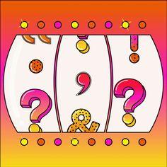 What's Your Favorite Punctuation Mark? - The New York Times Grammar Help, Grammar Rules, Latin Symbols, Elmore Leonard, When Your Best Friend, Fist Pump, Dog Whistle, The Underdogs, Bojack Horseman