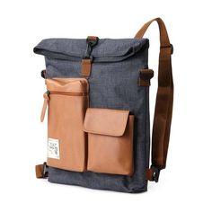 Slander City Backpack Backpack (Grey) -- interesting design, like the free-form… Backpack Bags, Leather Backpack, Leather Bag, Fashion Bags, Fashion Backpack, Pouch, Wallet, Backpacker, Travel Bags