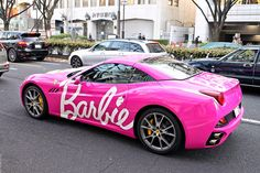 Pink Ferrari - Barbie getting a corvette exactly like this. Yeah Sydney would Love this one!!!!