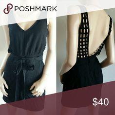 Lulus XS Black Sexy Open Back Dress New Lulu's Dresses Mini