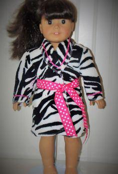 Zebra Bathrobe for American Girl by KikiDawnKreations on Etsy 1b60fafee