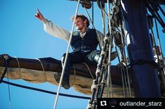 """4,086 Likes, 137 Comments - Sam Heughan (@samheughan) on Instagram: """"@outlander_starz  a beautiful day to sail away!#Outlander #BTS #STARZ"""""""