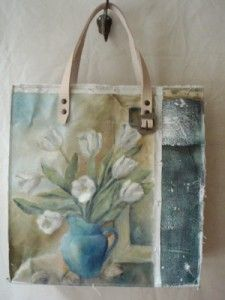 canvas bag out of a painting