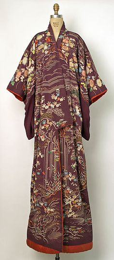 Kimono, 19th Century, Japanese, Silk, Gift of Mrs. Thomas Lamont, 1953