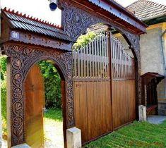 Driveway Design, Fence Design, Front Gates, Entrance Gates, Mexican Hacienda, House Gate Design, Brick Design, Architecture Details, Outdoor Living