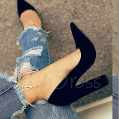 2636bf89cd3 15 Best chunky heel pumps images | Chunky heel pumps, Fashion Shoes ...