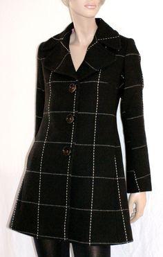 Warm & Wonderful Woman Black Short Coat Pink Lined Size M Branded Killah Originale Cappotto Donna Nero Impunture Bianche Taglia M Foderato di BeHappieWorld su Etsy