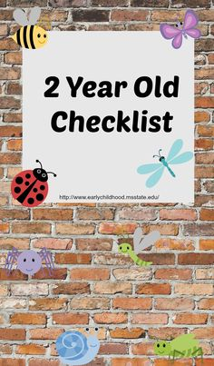 Checklist for 2 Year old Developmental Skills
