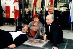 2000 Canada's Walk of Fame Inductees, comedy troupe, Royal Canadian Air Farce, posing with their star. #CWOF Read more: http://www.canadaswalkoffame.com/inductees/2000/royal-canadian-air-farce