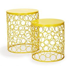 Adeco Accent Round Iron Nesting Tables/Stools, Circles Pattern, Bright Yellow (Set of 2) Adeco http://www.amazon.com/dp/B00P9VUFP0/ref=cm_sw_r_pi_dp_Z3uJub1YH5Z95