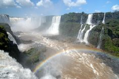 Iguazu Falls – Big Water of the Borders ~ Kuriositas Oh The Places You'll Go, Places To Travel, Iguazu Waterfalls, Hispanic Countries, Spanish Posters, Iguazu Falls, Places Of Interest, Natural Phenomena, Great Pictures
