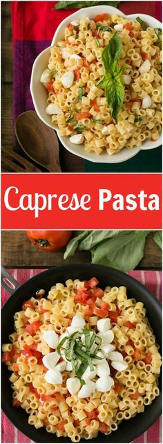 This caprese pasta is perfect for a quick and easy dinner - only 6 ingredients and ready in 15 minutes!
