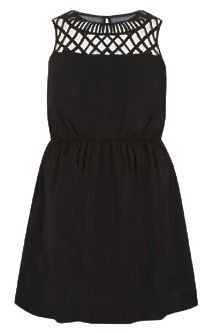 Gorgeous Plus Size Fashion for Women: Inspire at New Look - Inspire Black Lattice Neck Sleeveless Waist Dress