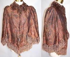 Victorian Iridescent Silk Paisley Chenille Fringe Dolman Mantle Cape ... Shift+R improves the quality of this image. CTRL+F5 reloads the whole page.