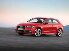 2012 Audi A3 Hatchback, red car, wallpapers, front side