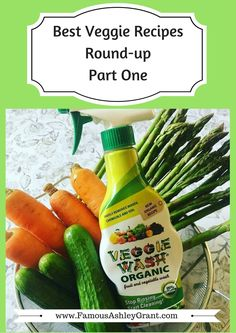 #ad - I've gathered some of the best vegetable recipes by my bloggy friends, and I wanted to share them with my readers. This is part 1 of 3 of them, sponsored by Veggie Wash. Enjoy!