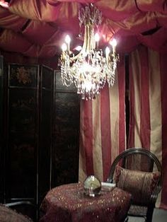 Fortune Teller's Table interior Halloween decoration ~ I have done something like this before, it was a big hit