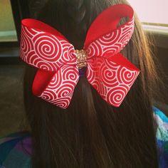 Hair clip for Christmas / Twist bow/ Corbata Roja para el cabello