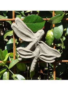 Wall Mounted Outdoor And Indoor Stone Plaque: Designer Stone: Spring  Dragonfly