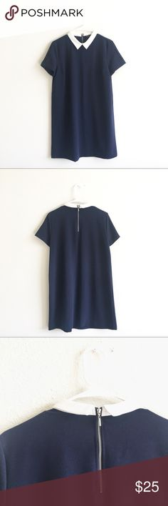 Zara Basic Navy Blue Formal Dress Size L In really good condition Zara Dresses Mini