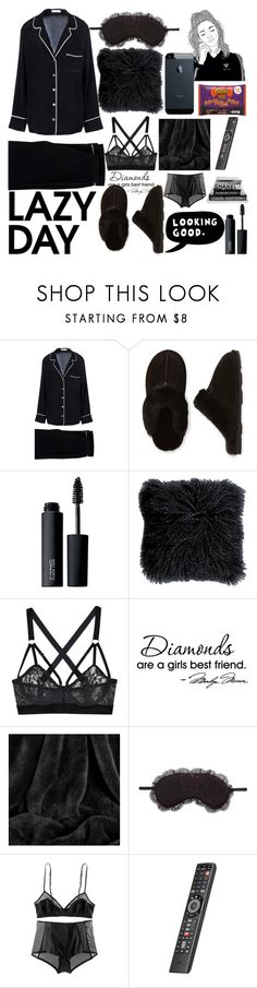 """😎Chill:)3000+followers {RTD}"" by janysha2369 ❤ liked on Polyvore featuring Equipment, Bearpaw, ESPRIT, MAC Cosmetics, Lonely, Berkshire Blanket, Chelsea28 and H&M"