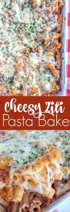 Cheesy Ziti Pasta Bake - Together as Family