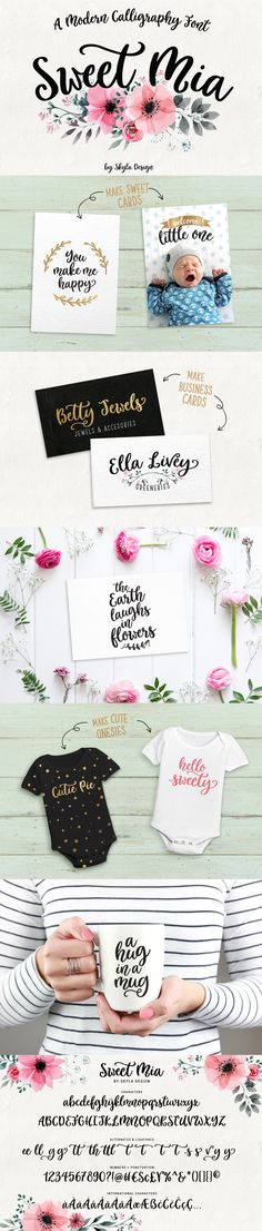 Modern calligraphy font, Sweet Mia - Script - 1