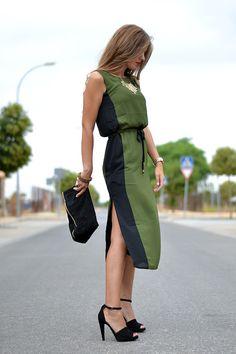 GREEN & BLACK DRESS   Mi aventura con la moda