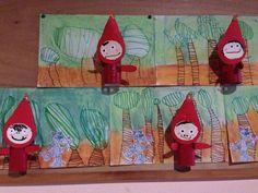 roodkapje met WC-rolletje en bos
