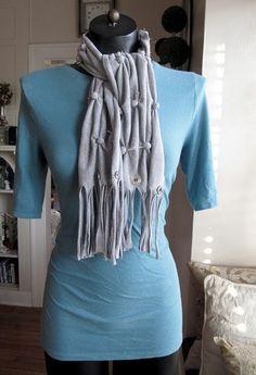 The First Pom Pom scarf