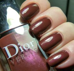 Yes, it's Dior, Dahling! Tonka and New World Purple (Aztec Chocolate)… Dior Nail Polish, Mature Women Fashion, Beautiful Nail Art, Manicures, Toe Nails, Aztec, Swatch, Paint, Chocolate